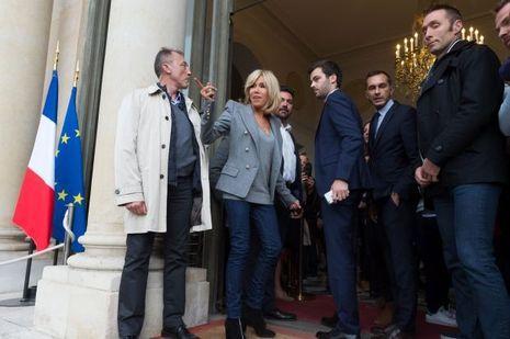 Brigitte Macron, à l'Elysée lors des Journées du Patrimoine.