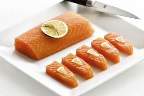 Filets de saumon provenant des eaux très pures d'Ecosse.