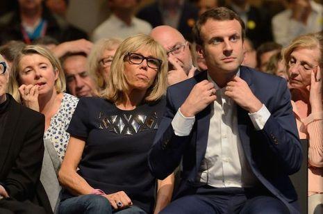 Brigitte et Emmanuel Macron à la Mutualité