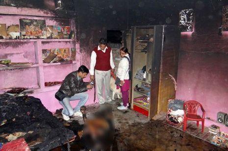 La chambre dans laquelle Bunty Sharma s'est suicidé.
