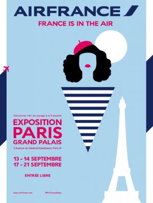 Affiche de l'exposition qui se déroule au Grand Palais