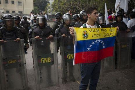 Manifestations à Caracas.