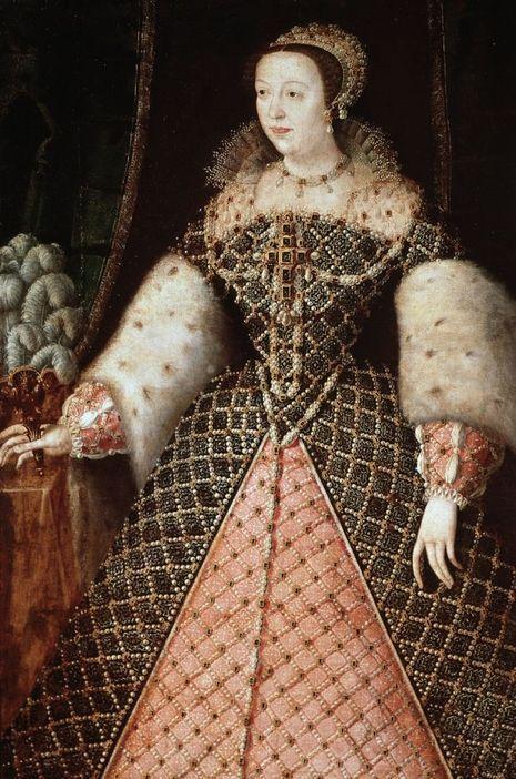 Portrait de Catherine de Médicis (détail). Ecole francaise, XVIe siècle. Florence, Galleria Palatina, Palazzo Pitti