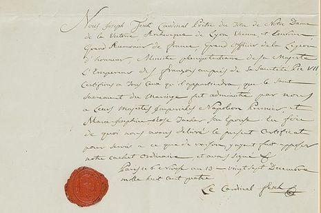 Certifcat de mariage religieux de l'Empereur Napoléon 1er et de l'Impératirice Joséphine_2