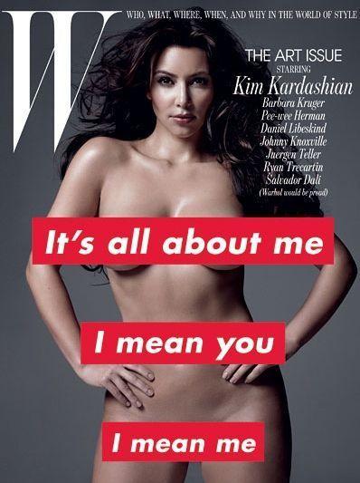 """Kim Kardashian en une du magazine """"W"""" en novembre 2010."""
