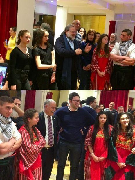 En haut, Henri Cohen-Solal. En bas, Issa Jaber avec Sacha Ghozlan, le président de l'Union des étudiants juifs de France.