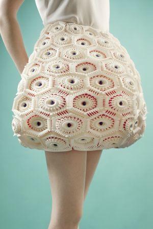 Dentelle 3D Anastasia Ruiz et Sculpteo ont lancé une collection avec le matériau le plus souple du monde.