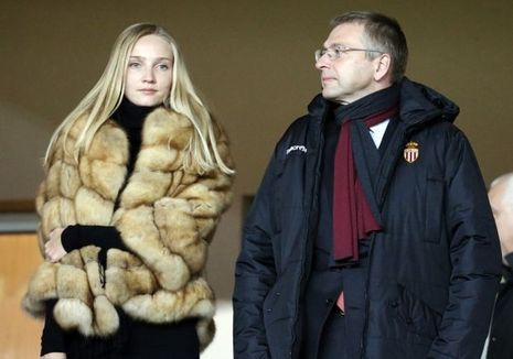 Dmitri Rybolovlev avec sa fille Ekatarina en 2015 au stade Louis II.