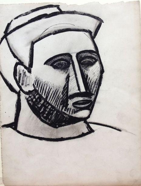 """Donation de Maya au Musée Picasso: """"Dessin cubiste. Portrait de femme"""", de Pablo Picasso, 1908. Copyright: Succession Picasso 2014"""