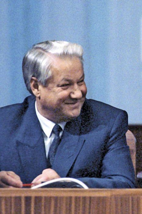 Boris Eltsine en 1991, il est mort en avril 2007.