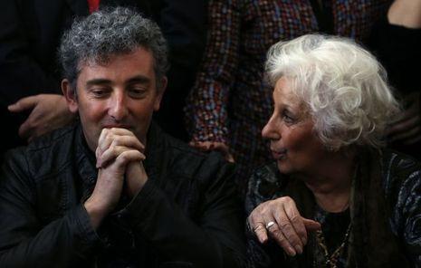 Estela de Carlotto et son petit fils Guido.
