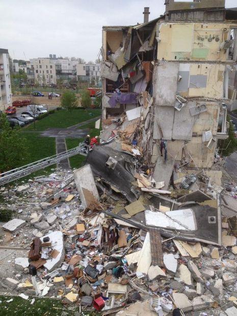 Explosion d'immeuble à Reims