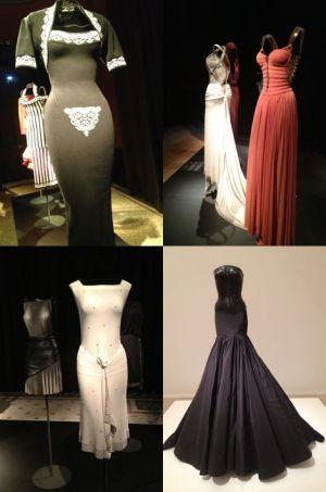 Quelques-unes des pièces présentées dans l'exposition, ici dans le Palais Galliera.