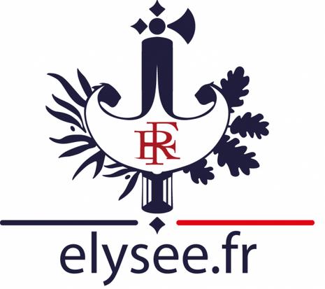 Le faisceau de licteur, emblème républicain utilisé par l'Elysée.