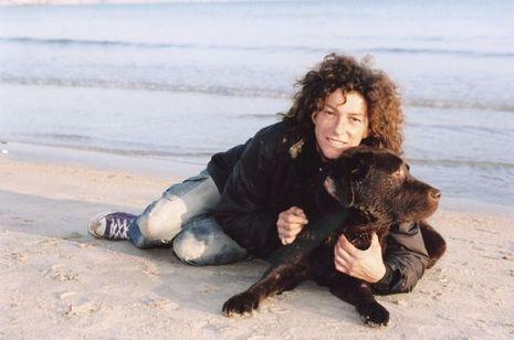 Florence Arthaud et son chien Noé
