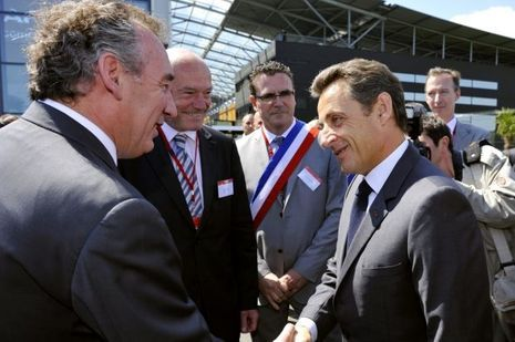 François Bayrou Alain Rousset Nicolas Sarkozy