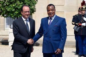 François Hollande reçoit Denis Sassou Nguesso à l'Elysées le 7 juillet 2015
