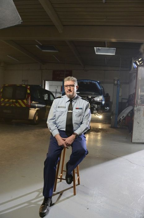 Le Général de gendarmerie Jacques Ebrad. A l'époque commandant en second de l'IRCGN.