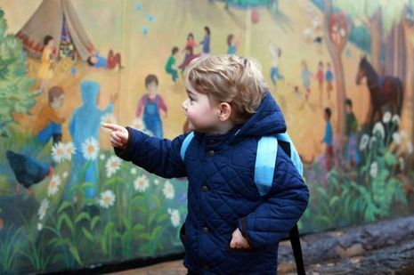 Portrait du prince George de Cambridge pour son premier jour d'école, par Kate Middleton