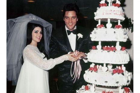 Elvis et Priscilla Presley le 1er mai 1967 à leur mariage