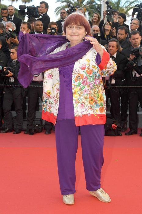 Agnès Varda à Cannes, le 14 mai 2018.