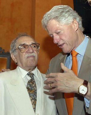 Gabriel Garcia Marquez et Bill Clinton en 2007 à Carthagène