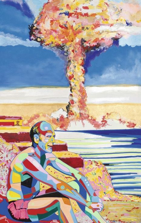 VGE et les essais nucléaires vus par Kiki Picasso en 1974.
