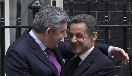 Gordon Brown Nicolas Sarkozy entente cordiale-