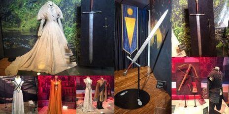 """Quelques pièces de l'exposition """"Game of Thrones"""" à Paris."""