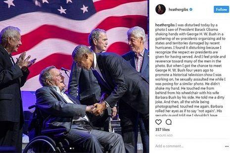 L'ancien président accusé d'attouchements sexuels par une actrice — George Bush père