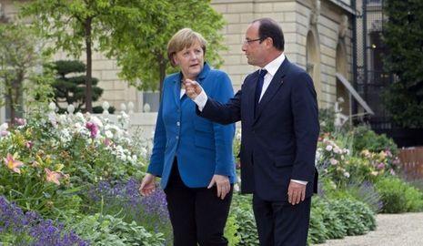 Hollande Merkel-