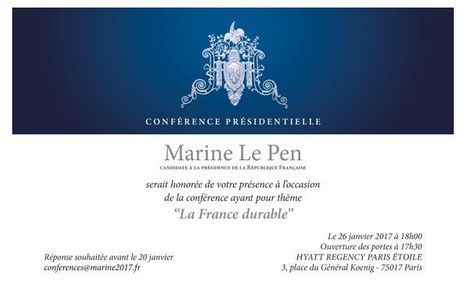 Invitation Marine Le Pen