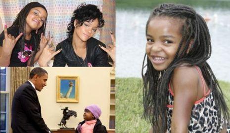Jasmina Anema, avec Rihanna et Obama (montage)-