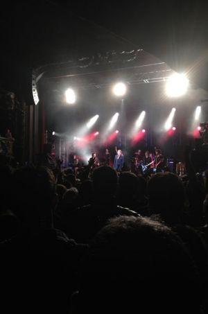 Johnny Hallyday en concert dimanche soir.