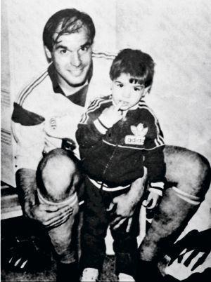 José Anigo avec son fils