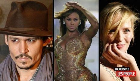 Jour People Johnny Depp Beyoncé Uma Thurman-
