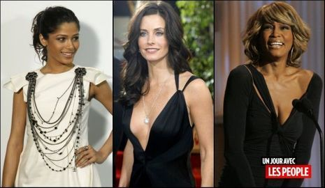 JP 08 04 2010 Freida Pinto, Courteney Cox et Whitney Houston-