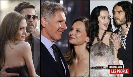 JP 22 06 2010 Angelina Jolie et Brad Pitt, Calista Flockhart et Harrison Ford, Katy Perry et Russell Brand-