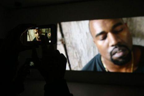 Kanye West en concert à Paris