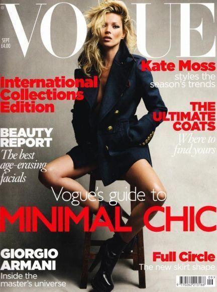 Kate Moss 30e couv de Vogue (format portrait)-