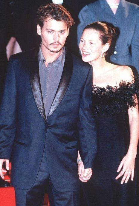 Kate Moss et Johnny Depp en 1997
