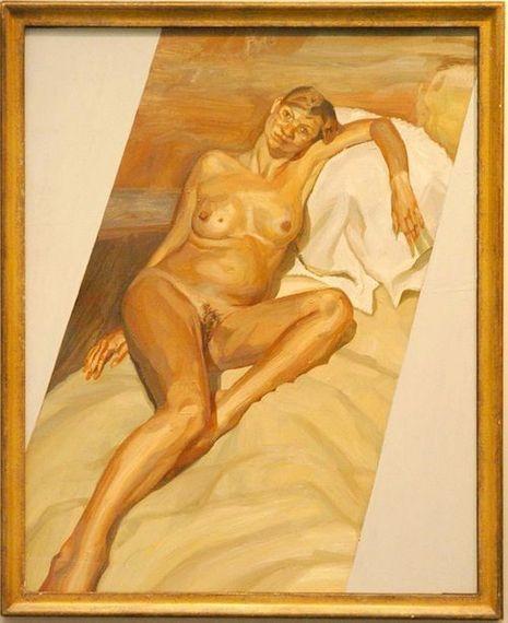 Kate Moss pose, enceinte, pour le peintre Lucian Freud