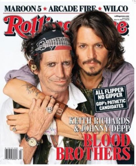 Keith Richards et Johnny Depp en couverture de Rolling Stone-