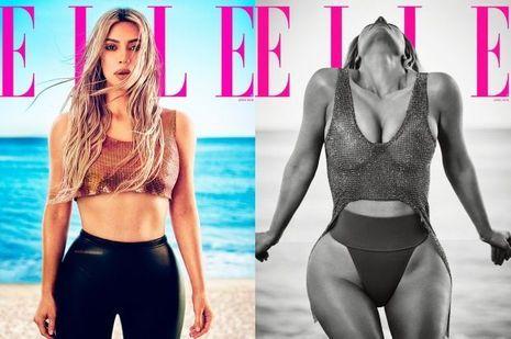 "Kim Kardashian en couverture(s) du magazine ""Elle"""