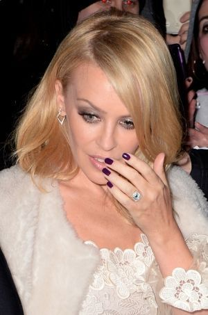 Kylie Minogue à Londres le 18 février 2016.