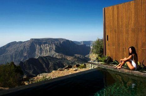 L'Anantara, l'autre resort de luxe posé face aux montagnes du djebel Akhdar.