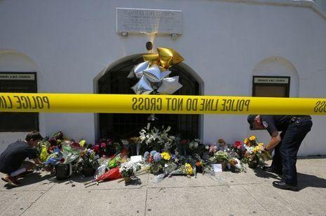 L'église où a eu lieu la tuerie.