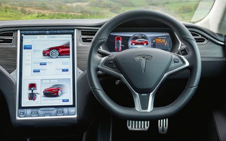 L'intérieur ultraconnecté de la Tesla S.