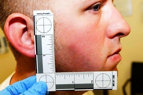 L'officier Darren Wilson, photographié après le meurtre de Michael Brown.