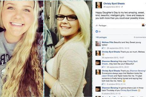 La mère et ses deux filles, sur un post Facebook.